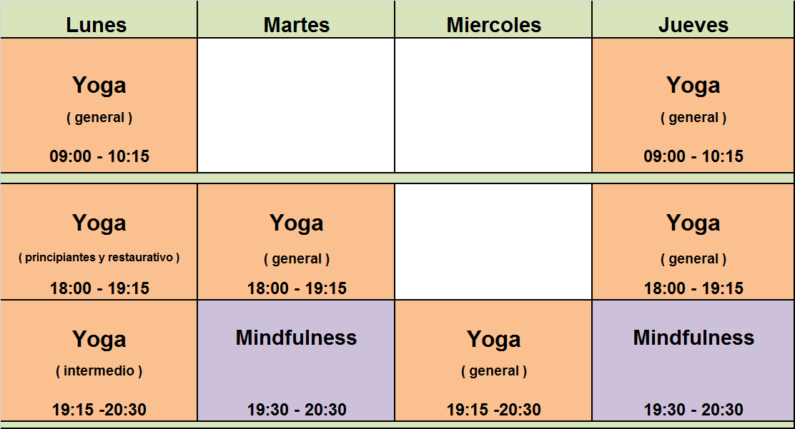 Yoga y Mindfulness 2017-18